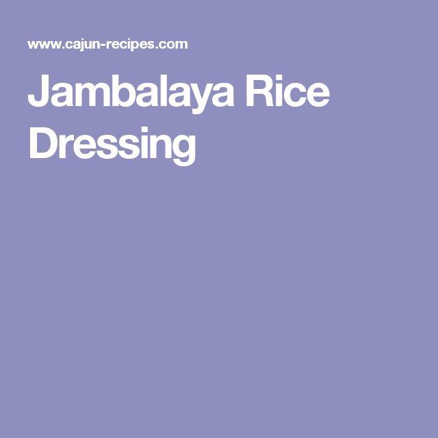 Jambalaya Rice Dressing