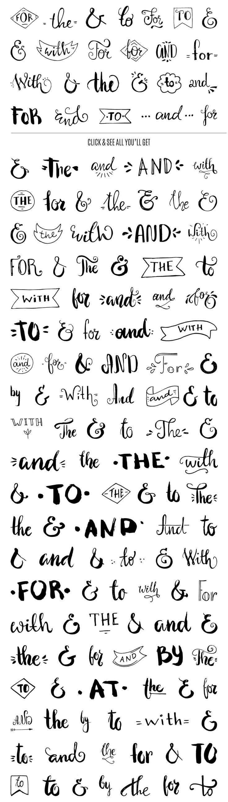 Handdrawn Catchwords Set (PNG, EPS): Handdrawn Catchwords Set include over 130…