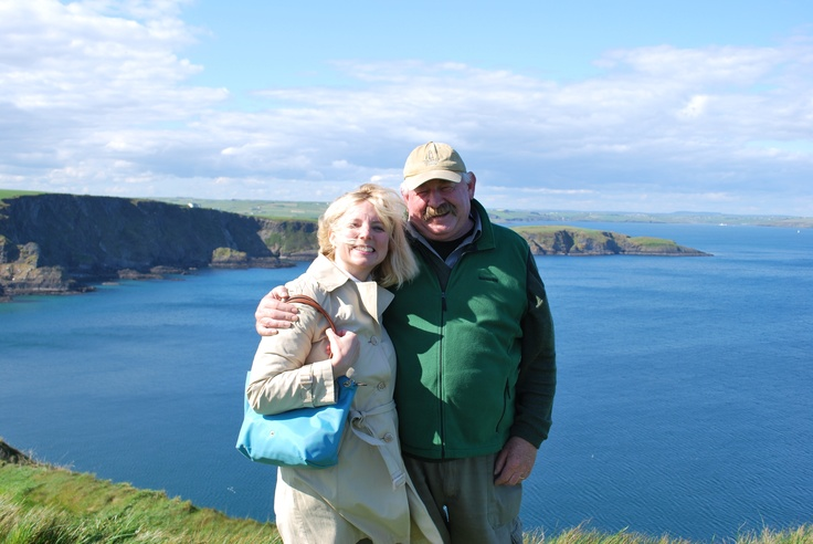 Mary and Big Tom, THE caddie of Old Head in Kinsale. Can't wait to share a pint at the Speckled Door. Tom's home away from home.