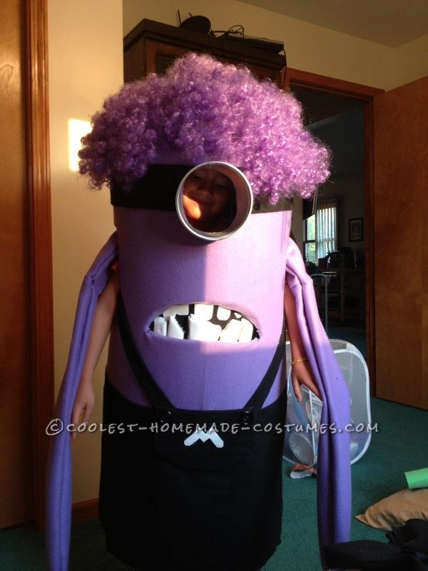 Coolest Homemade Purple Evil Minion Costume From