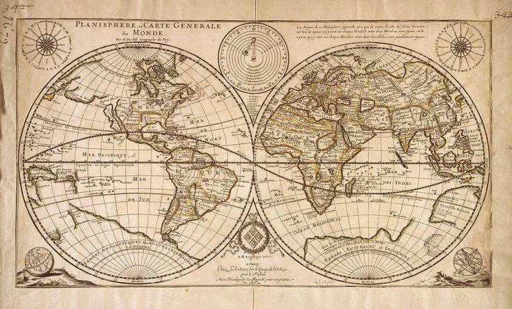 planisphère; carte; ancienne