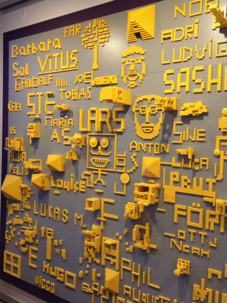 Lego wall! Louisiana Museum of Modern Art, Denmark.    ...BTW, check this out!!!! :   http://artcaffeine.imobileappsys.com