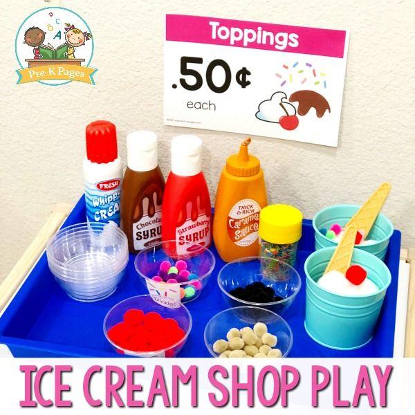 Dramatic Play Ice Cream Shop | Play ice cream, Dramatic play
