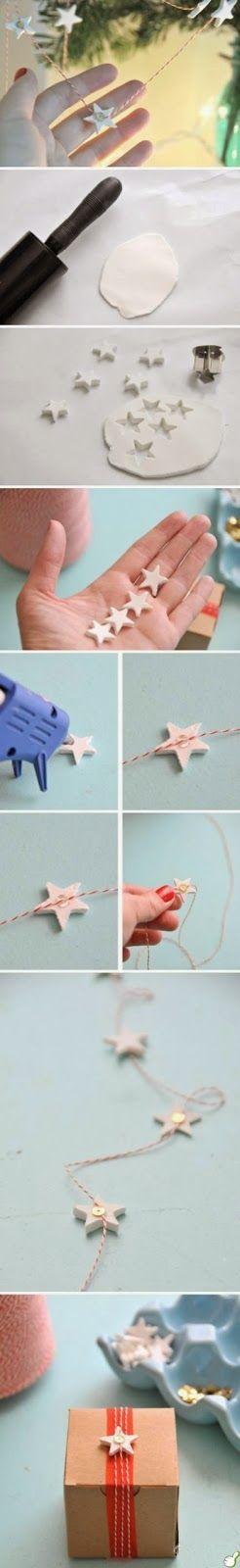 DIY Stjerne julebånd