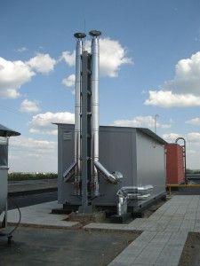 Крышная котельная для теплоснабжения и горячего водоснабжения 14 этажного многоквартирного дома в г. Коврове. Мощность 800 кВт.