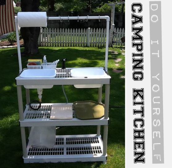 Camp Kitchen With Sink: Diy Camping, Backyards And Farms