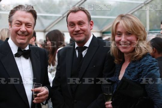 Roger Allam, Philip Glenister and Beth Goddard at the Orange Tree Theatre reception, 8 May 2015.