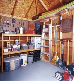 16 Best Images About Shed Storage Ideas On Pinterest A