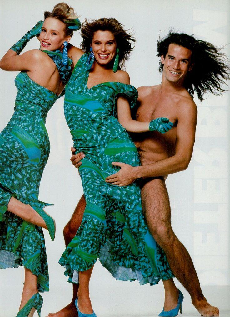 Enrico Coveri  1986 (Outtake)  Estelle Lefebure & Renee Simonsen by  Bill King
