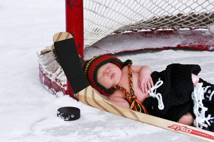 #Hockey Sports Birth Announcement #Custom Sports Cards # ...