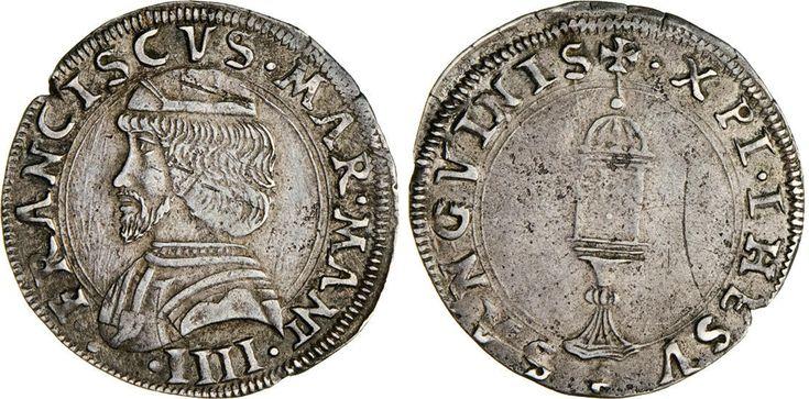 NumisBids: Numismatica Varesi s.a.s. Auction 65, Lot 408 : MANTOVA - FRANCESCO II GONZAGA (1484-1519) Mezzo Testone. D/ Busto...
