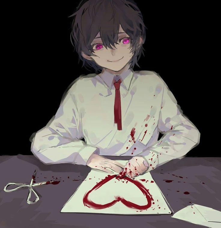 Bloody anime boy Guro Dazai Bingou stray dogs