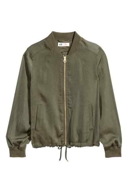 Jachetă de aviator subțire