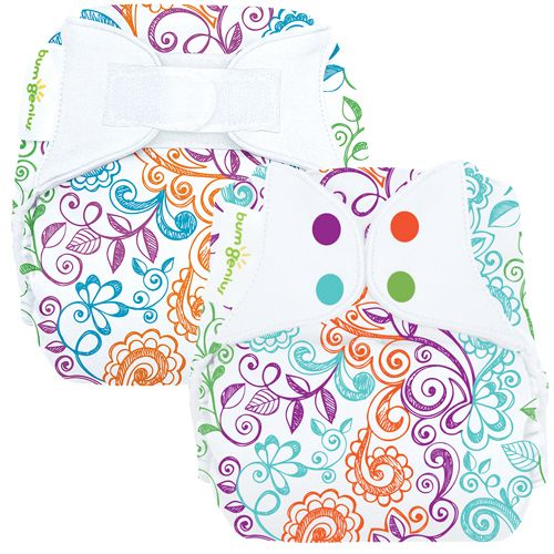 #3 - A diaper with a fun print. I personally LOVE this print. No matter why any of us started using cloth diapers, you're a liar if you say you don't love using diapers with super cute prints. #clothdiapers #nopins
