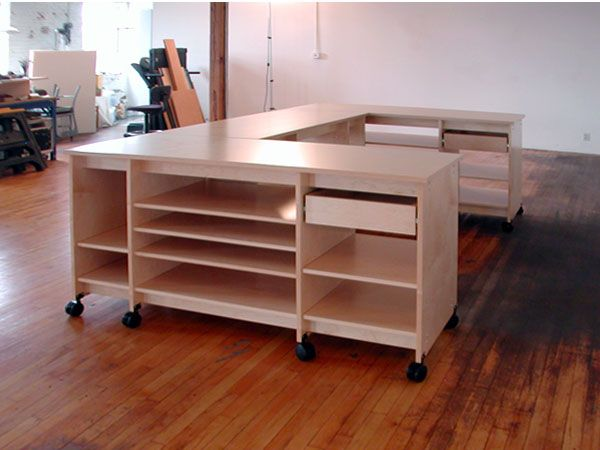 Artist Desks With Storage Art Studio On Wheels Art Studio Room Art Studio At Home Art Studio Storage