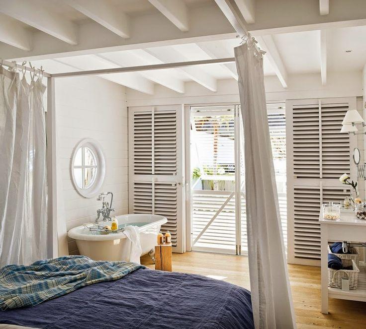 wystrój wnętrz, wnętrza, dom, home decor, aranżacje, białe wnętrza, willa, sypialnia z łazienką