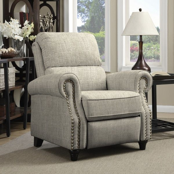 ProLounger Barley Tan Linen Push Back Recliner Chair | Overstock.com Shopping - The Best Deals on Recliners
