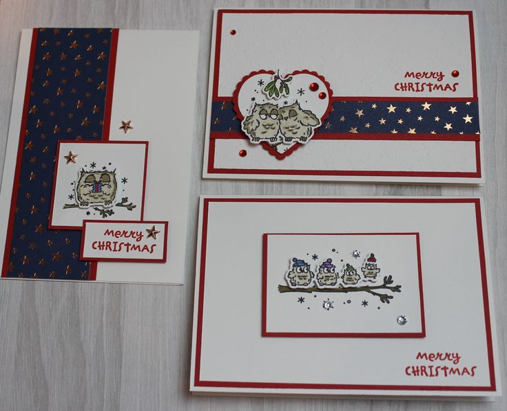 Have a Hoot Handmade Christmas Cards Stampin' Up