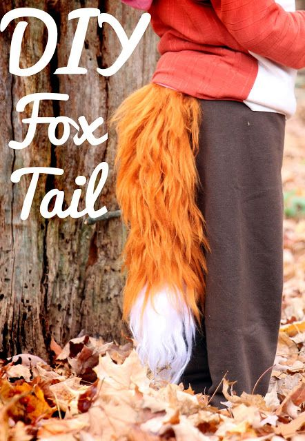 Brushed Yarn Fox Tail