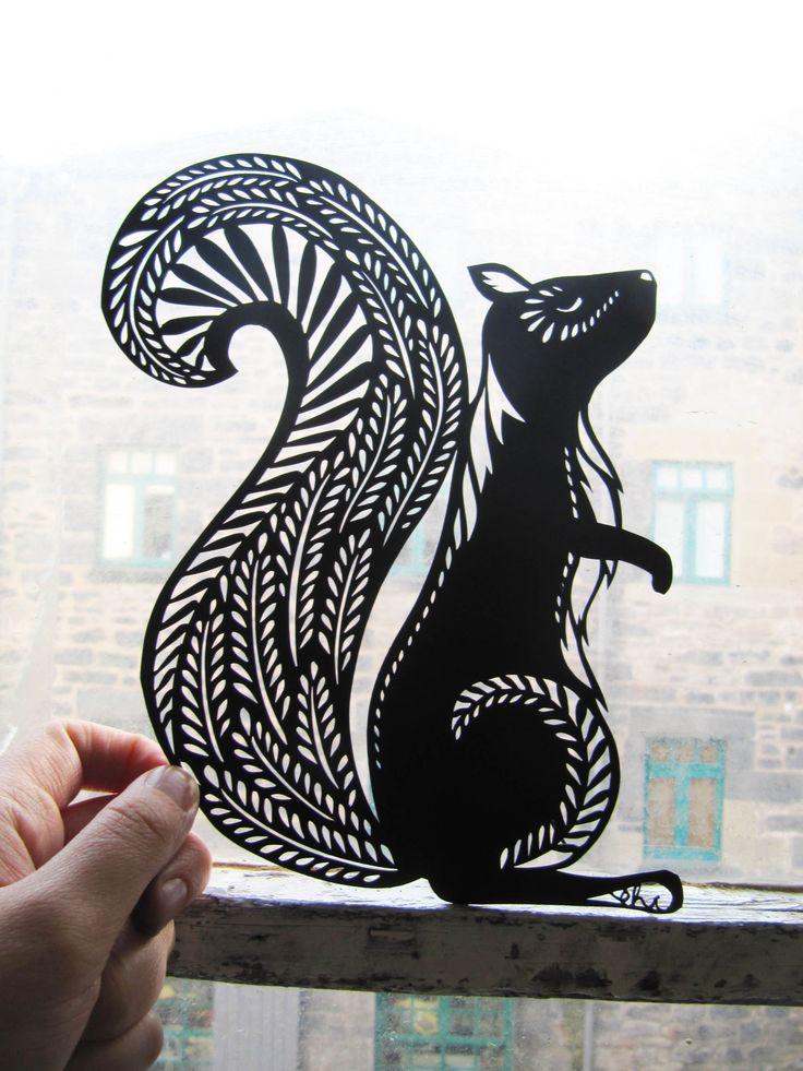 squirrel Paper Cut animals