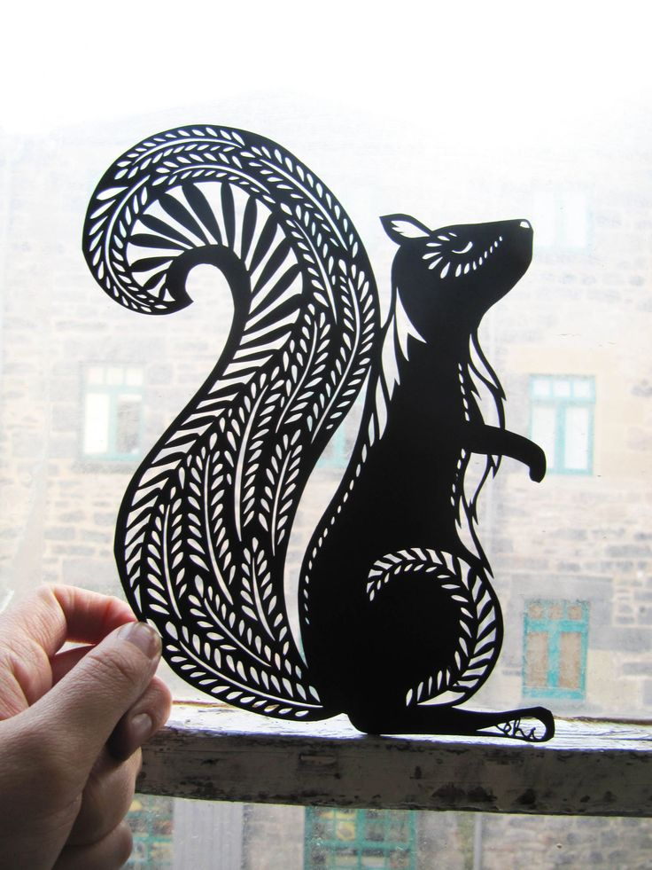 Emily Hogarth stunning papercut of a squirrel