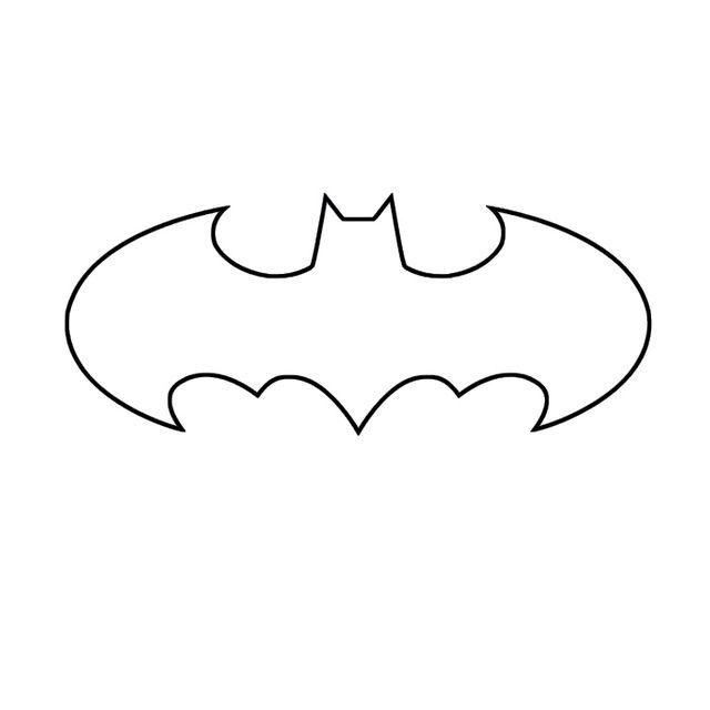 Batman symbol template