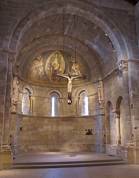 Apse from San Martín at Fuentidueña, ca. 1175–1200. Spanish. The Metropolitan Museum of Art, New York. Exchange Loan from the Government of Spain (L.58.86) #Cloisters