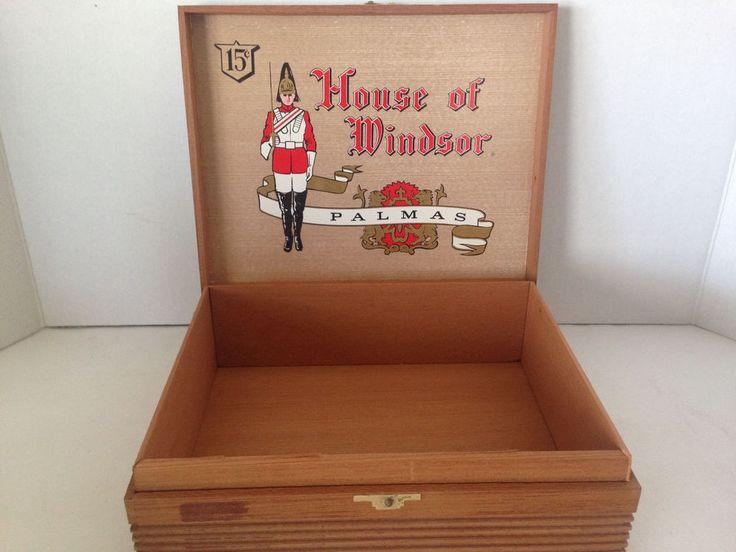 House of Windsor Cedar Wood Palamsm TP 33 Pa 15 Cents Empty Cigar Box