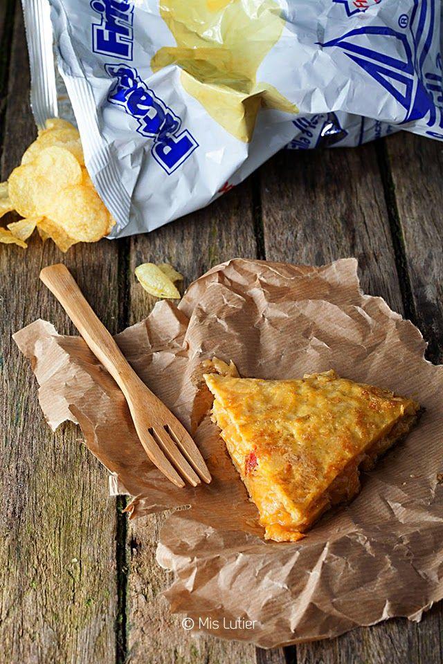 Mis Lutier: Tortilla de patatas fritas Bonilla y chorizo de Lalín