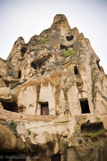 A closer look at the carvings found on Uchisar Castle Visit @ http://themostalive.com/pigeon-valley-uchisar-castle-cappadocia-turkey/