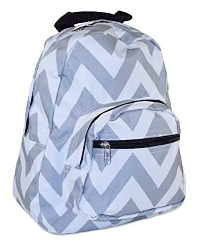 Toddler Backpack Chevron Print Grey White -- Details can be found by clicking on the image.