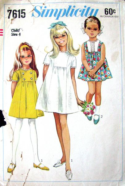 Simplicity 7615 - 1968 really like the detail on the chest, added to a romper or playsuit would look adorable..