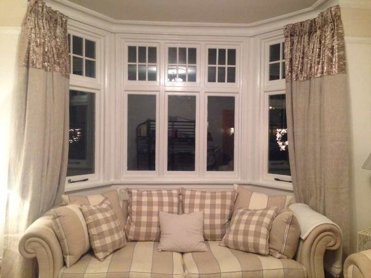 100% Linen curtains with a crushed velvet header - customer picture - curtains by Vintage Swish