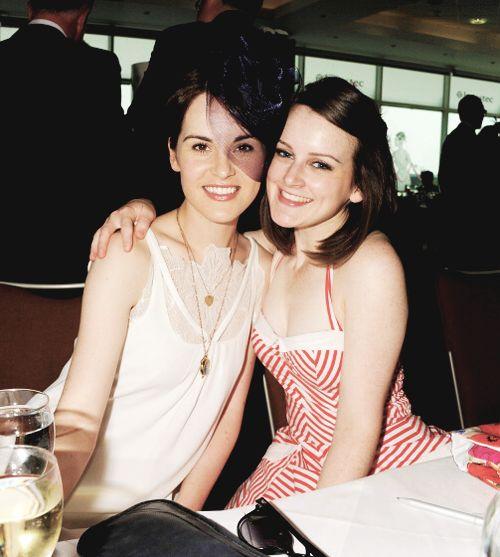 Downton ladies: Michelle Dockery & Sophie McShera