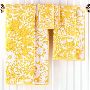 for the gray and yellow bathroom