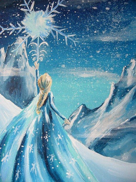 Disney Frozen Queen Elsa Snow Scene Disney by happybdaytome, $50.00