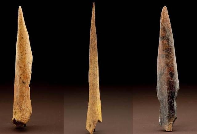Bone Awls (200,000-400,000 years old) A feature of the Middle Stone Age (MSA), bone awls were little sharpened bits of bone, probably used for piercing holes in hide and making clothes. As such, they show our ancestors moving on from just wrapping themselves in the skin of a dead zebra to actually creating their own garments. Like most of the stuff in the MSA, bone awls were likely invented in Africa and then taken to Europe along with the first early humans...