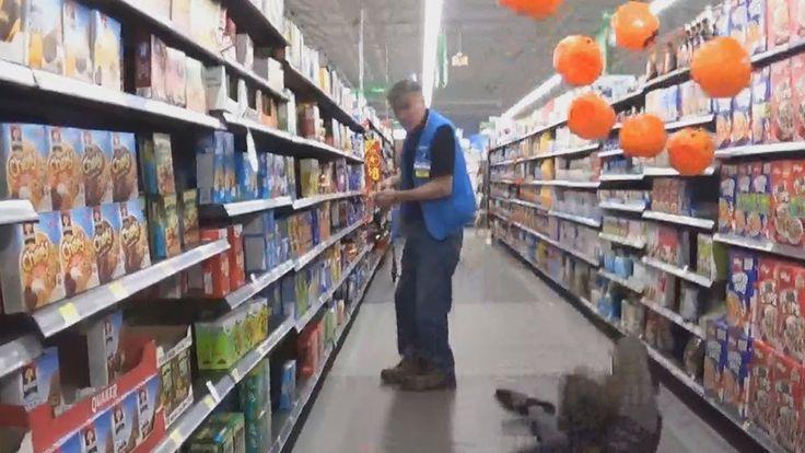 Falling with pumpkins in walmart #pranks #funny #prank #comedy #jokes #lol #banter