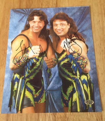 The New Rockers Marty Jannetty & Leif Cassidy Signed 8x10 Photo WWE WWF NWA wCOA