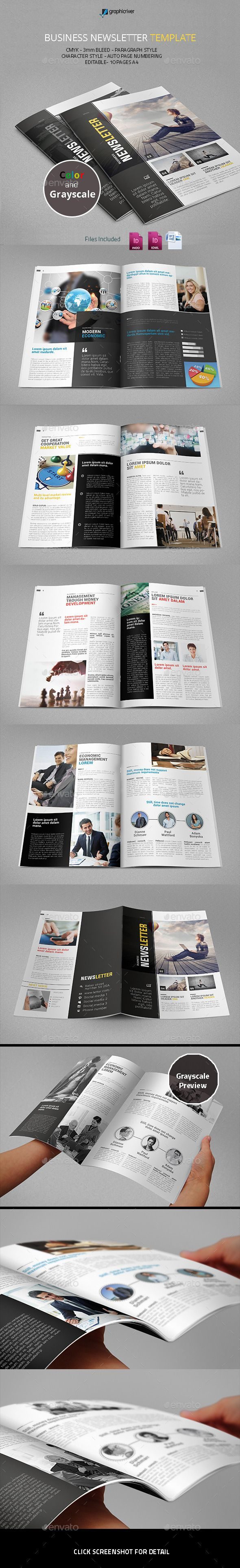 Business Newsletter Template #design Download: http://graphicriver.net/item/business-newsletter-template/11024236?ref=ksioks
