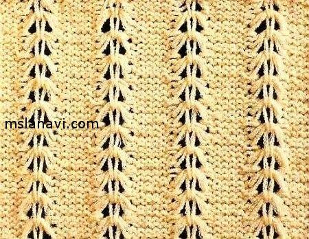 Ажурный узор для вязания спицами
