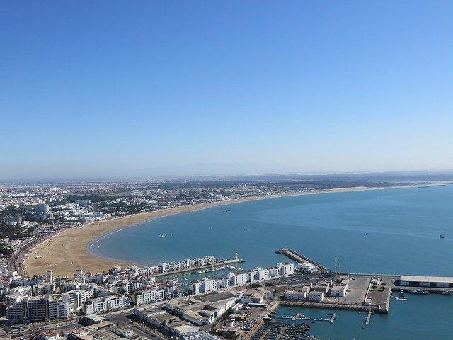 Agadir port, Agadir beach, view from old kasbah hill, hike in agadir, things to do in agadir