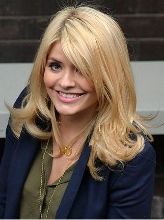 Holly Willoughby with Blonde  Blonde Hair Works Out Wonders