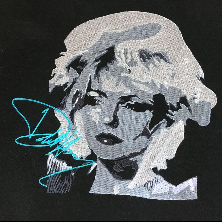 Deborah (Debbie) Harry - Blondie - Embroidered Waistcoat/Vest or Bomber Jacket by maymayberry on Etsy