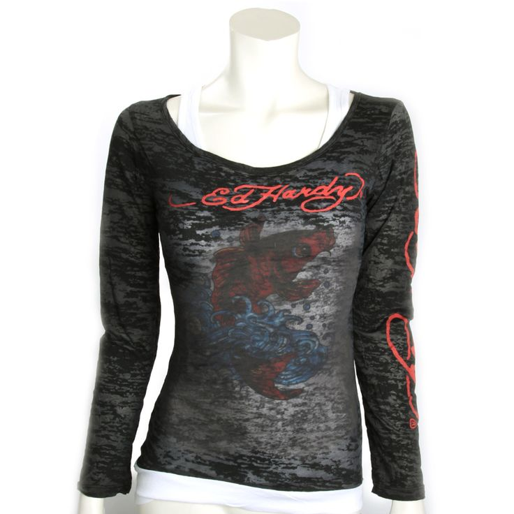 Ed Hardy Long Sleeve Combo Tank-Black