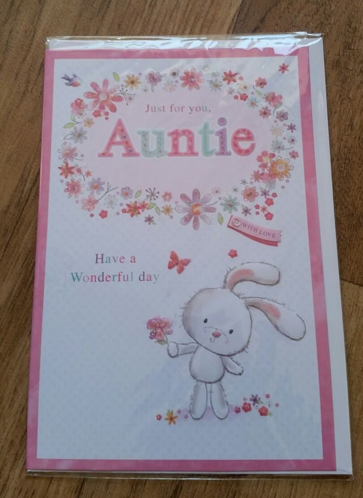 Just for you auntie birthdaygreeting card free uk pp auntie just for you auntie birthdaygreeting card free uk pp auntie cellophane wrap and birthday greeting cards m4hsunfo
