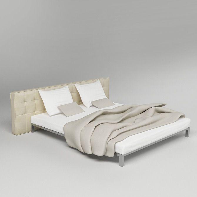 Bed 04 3d Model Bed Bed Furniture Furniture