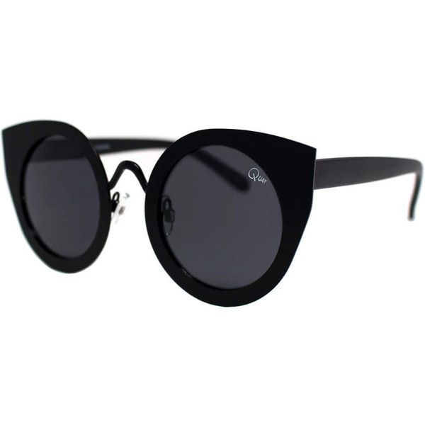 TOPSHOP **TAINTED LOVE Sunglasses by Quay ($46) ❤ liked on Polyvore featuring accessories, eyewear, sunglasses, black, black glasses, metal sunglasses, lens glasses, metal glasses and black sunglasses