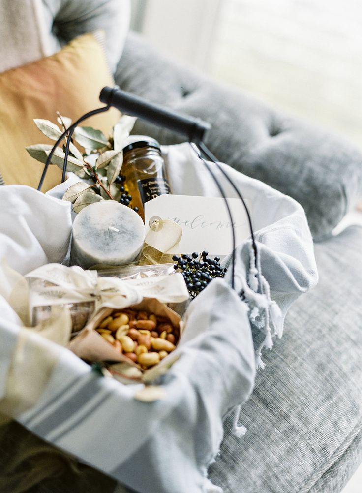 Gift design: www.marigoldgrey.com Wedding | Welcome Basket | Welcome Gift…