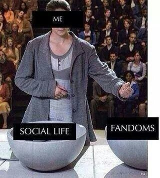 Fandoms before social life. We have to keep up with bands/TV shows/books/movies/updates/etc. ❤
